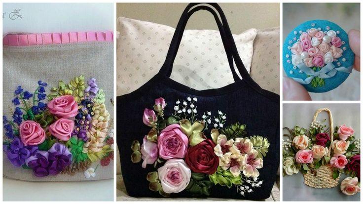 Cómo bordar hermosas rosas en tela para decorar