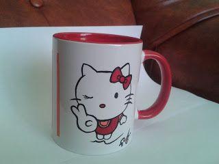 Cana Hello Kitty -----  cana pictata manual / handmade painted mug ****** pret: 30 lei / price: 6 euro