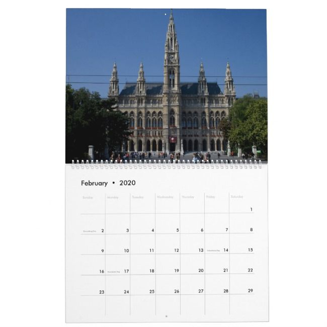 Wien Osterreich 2021 Kalender Calendar Zazzle Com Vienna Austria Famous Landmarks City Hall