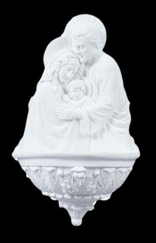 holy family holy water font in white holy family water font in white used for
