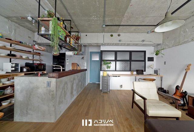 2018 01 16 20 11 59haco Renovation2018 1 16 コンクリート天井と造作
