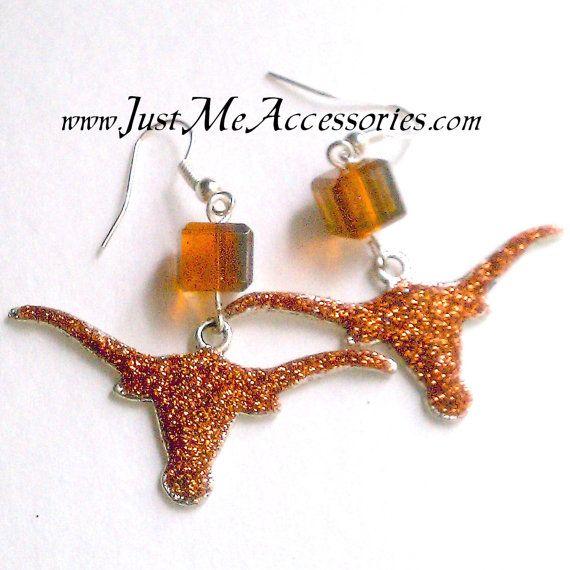 University of Texas Longhorn Burnt Orange Glitter by sonyavargas, $10.00