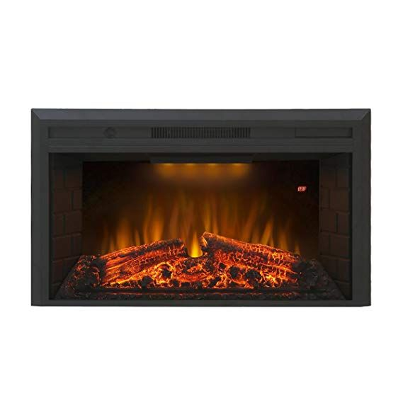 Amazon Com Valuxhome Houselux 36 750w 1500w Embedded Fireplace Electric Insert Heater Fire Crackler S Fireplace Inserts Fireplace Electric Fireplace Insert