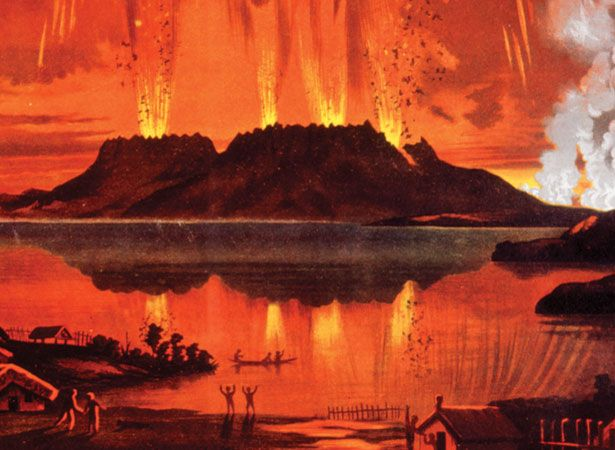Eruption of Mt Tarawera | NZHistory, New Zealand history online