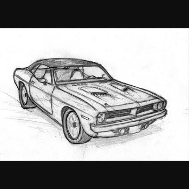 Plymouth Roadrunner Drawing By Vertualissimo Deviantart Com