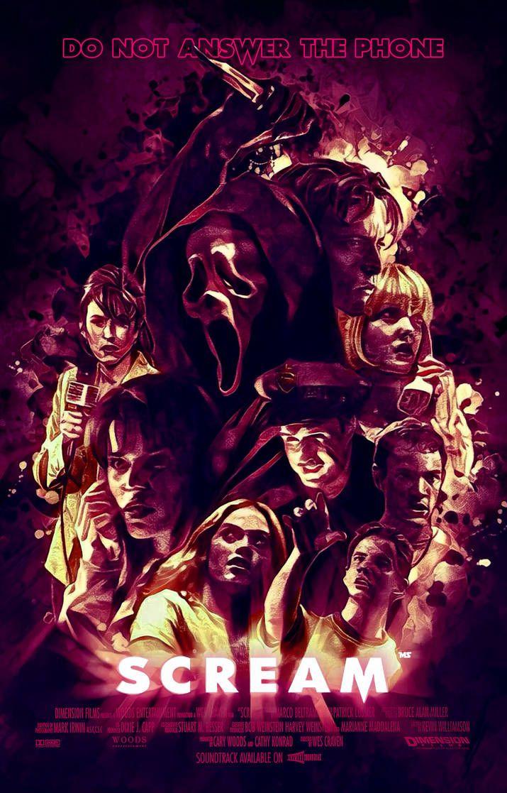 Scream By Redghostman On Deviantart Horror Movie Art Scream Movie Movie Artwork