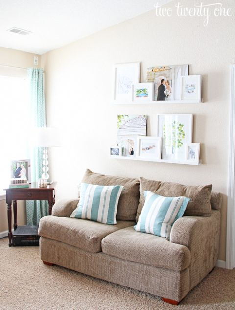 white picture ledges for above couch #homeremodeli…