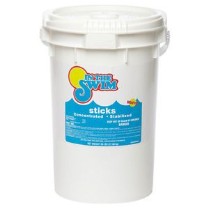 a in the swim 8 oz 99 trichloro sanitizer swimming pool chlorine sticks 50 lbs