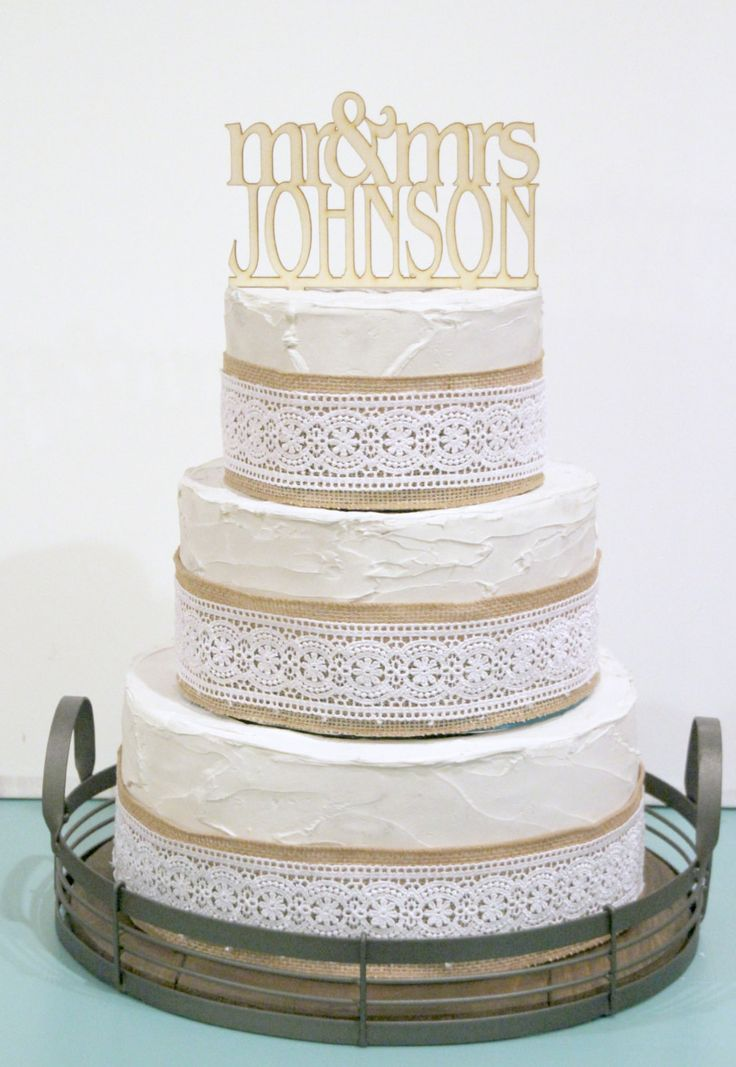 Items Similar To Rustic Wedding Cake Topper Or Sign Mr And Mrs Custom Personalized With YOUR Last Name Paintable Stainable Wood On Etsy