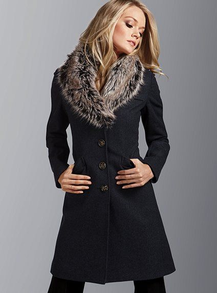 faux fur collar coat <3: Style, Victoria Secret, Victoria S Secret, Fur Collars, Coats