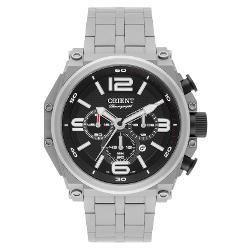 Kit Relógio Orient Masculino Army Tech Titânio + Pulseira Em Couro Marrom - Mbttc013 P2gx