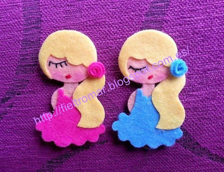 Broche de fieltro flamenca