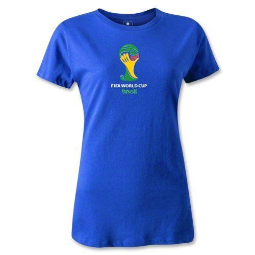 Amazon.co.jp: ワールドカップ日本応援 レディース 2014 ワールドカップブラジル FIFA オフィシャルエンブレム Tシャツ ロイヤルブルー2014 FIFA World Cup Brazil(TM) Emblem Women's T-Shirt (Royal) 【並行輸入品】 (S): 服&ファッション小物通販