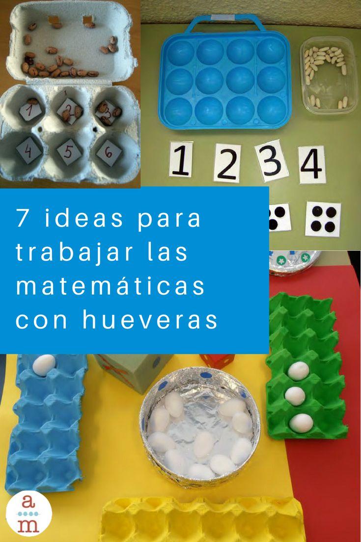 Las 7 mejores actividades matemáticas para hacer con hueveras.