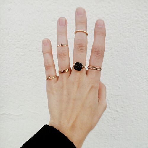 stackable statement rings #style