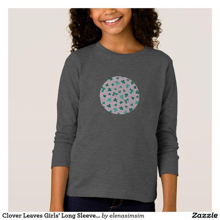 Clover Leaves Girls' Long Sleeve T-Shirt