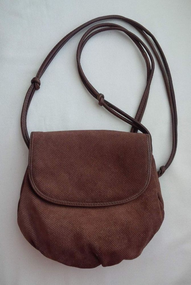 e898027aa6dcf BOTTEGA VENETA Brown Suede Shoulder Crossbody Bag #BottegaVeneta # ShoulderBag