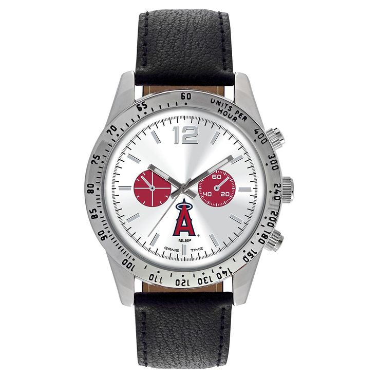 Men's Game Time MLB Letterman Sports Watch - Black - Los Angeles Angels of Anaheim