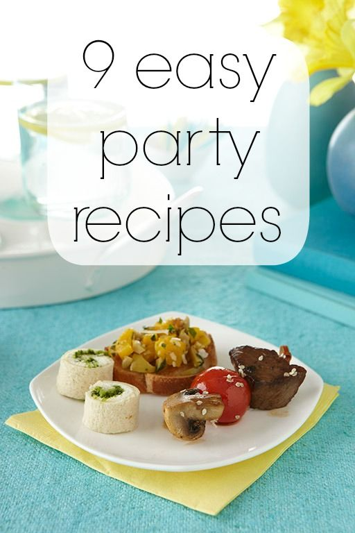9 easy-to-make (and inexpensive!) party food recipes