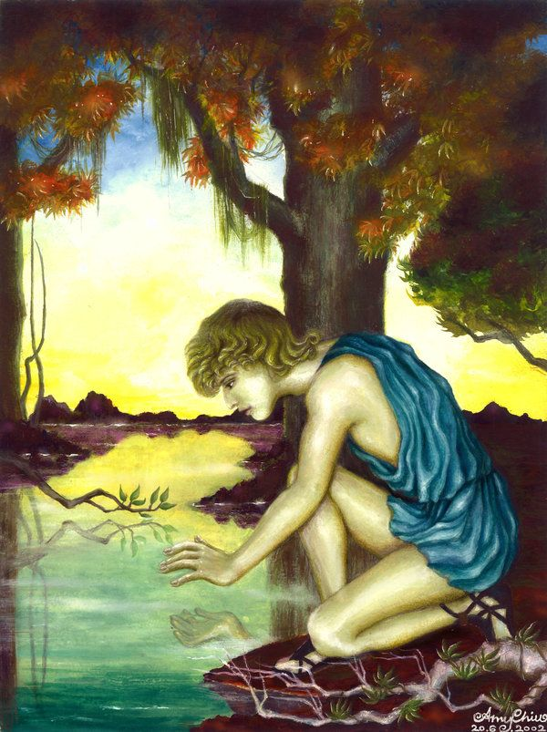 best narcissus images greek mythology gay art this is a work of inspired by the greek myth narcissus in that period i was affected by the french symbolic painter gustave moreau narcissus