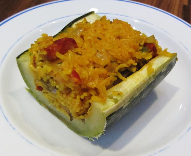 Spanish Rice Stuffed Marrow by Searching for Spice