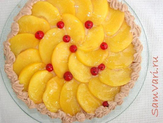 торт с персиками/ cake with peaches