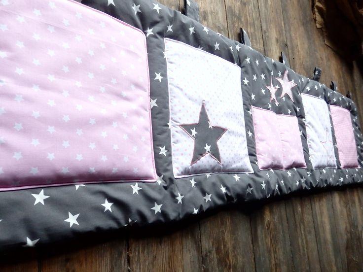 Kapsář za postel...hvězdné nebe..růžové - 200x50cm