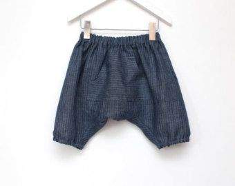 VENDITA. Pantaloncini harem ragazzi lino marrone toddler