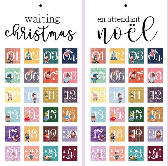 Les 25 meilleures id es de la cat gorie calendrier - Etiquette calendrier de l avent ...