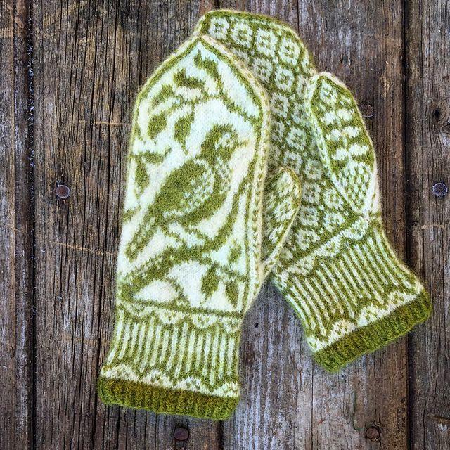 Ravelry: Songbird Mittens pattern by Erica Heusser
