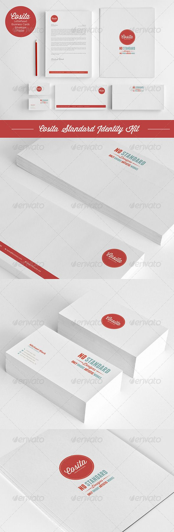 Cosita Standard Corporate Identity  #folder #identity #letterhead • Click here to download ! http://graphicriver.net/item/-cosita-standard-corporate-identity/4085533?s_rank=136&ref=pxcr