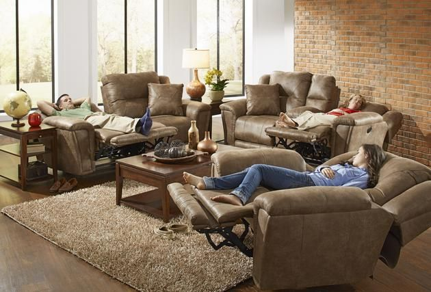 Notice the ottoman extension on the sofa and loveseat, hate when your feet hang over when you recline in your sofa, well that's not the case here.  Get the ankle support you need with the Collins set by Catnapper!!!!