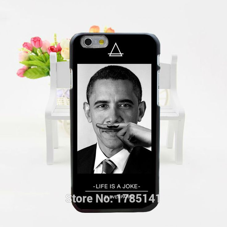 1pcs Coque eleven paris Global star Moustache obama hard black Case for iphone6(4.7inch) and iphone6 plus(5.5inch)