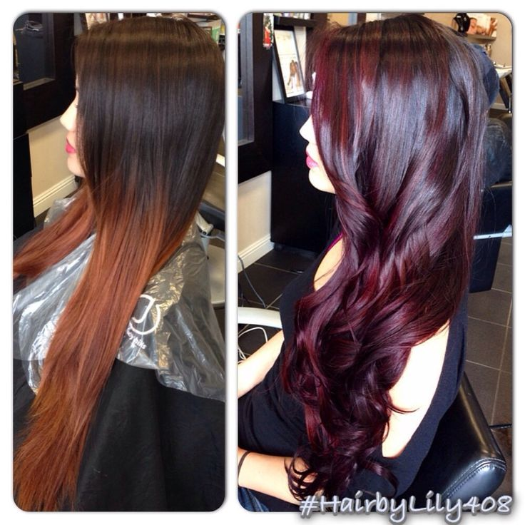 Balayage red...really like the right pic