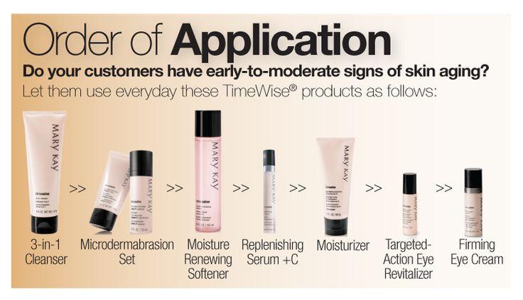 Orden de aplicacion de los productos MK. http://www.marykay.es/susanadelgado
