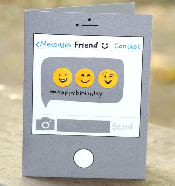 Birthday Text Birthday Card by thepaperhugfactory on Etsy