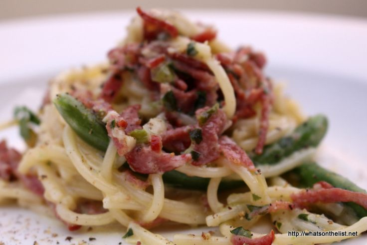 This fettuccine carbonara recipe combines Thermomix and healthy into fun.