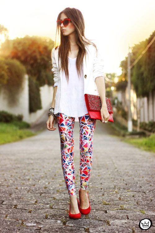 Love the printed pants!