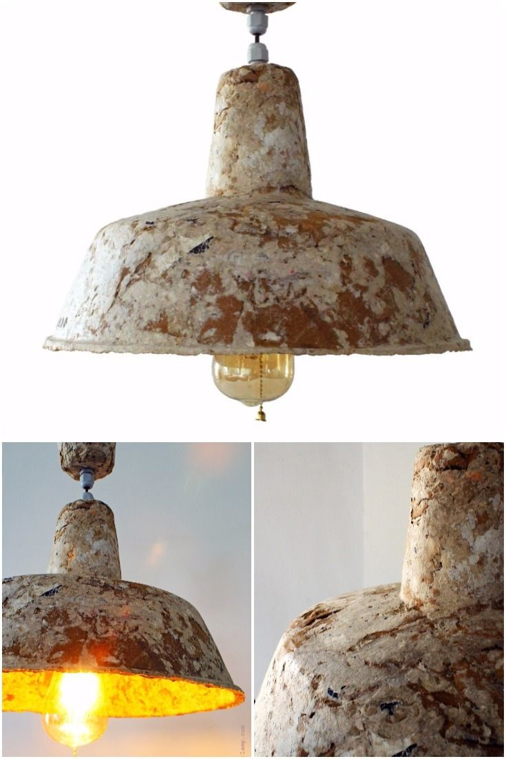 Industrial Style Recycled Paper L&. Industrial Style Recycled Paper L& - Pendant Lighting - This l& is made of ...  sc 1 st  Pinterest & 2835 best Lamps u0026 Lighting Ideas images on Pinterest azcodes.com