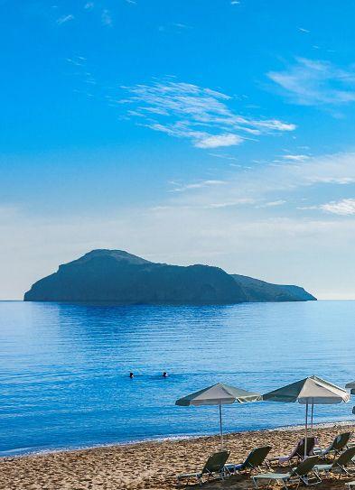 Platanias Beach in Chania, Crete