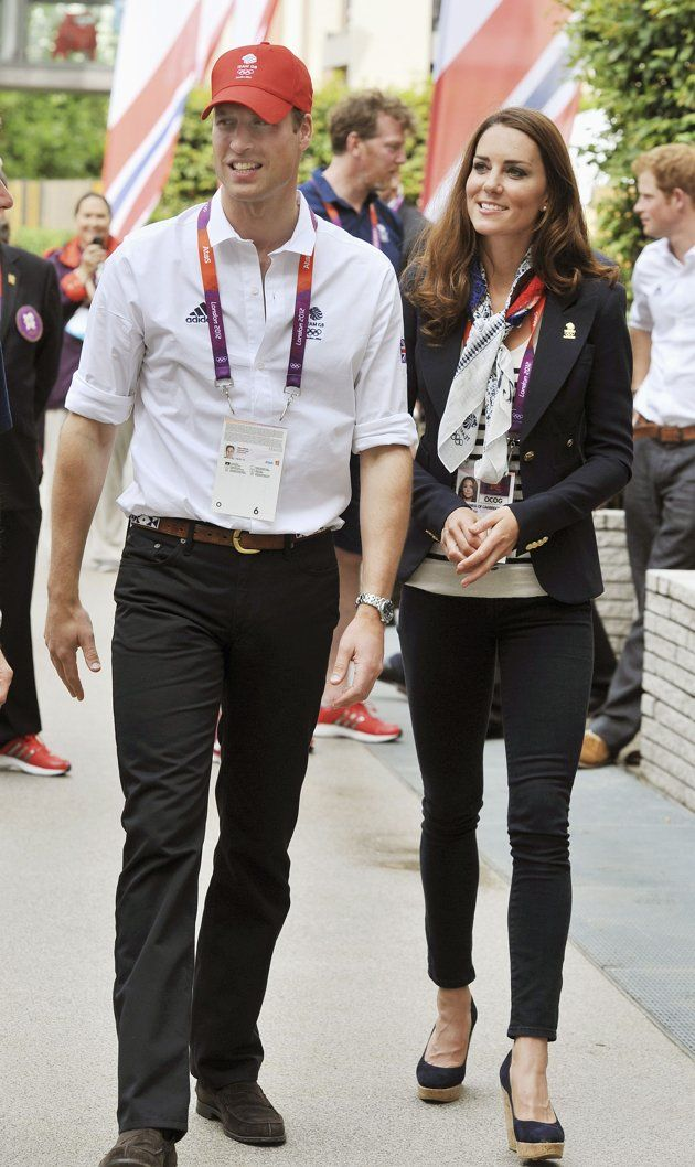 Britain's Prince William and Catherine, Duchess of Cambridge visit the accommodation for British athletes in the Athletes Village at Olympic Park in Stratford, east London