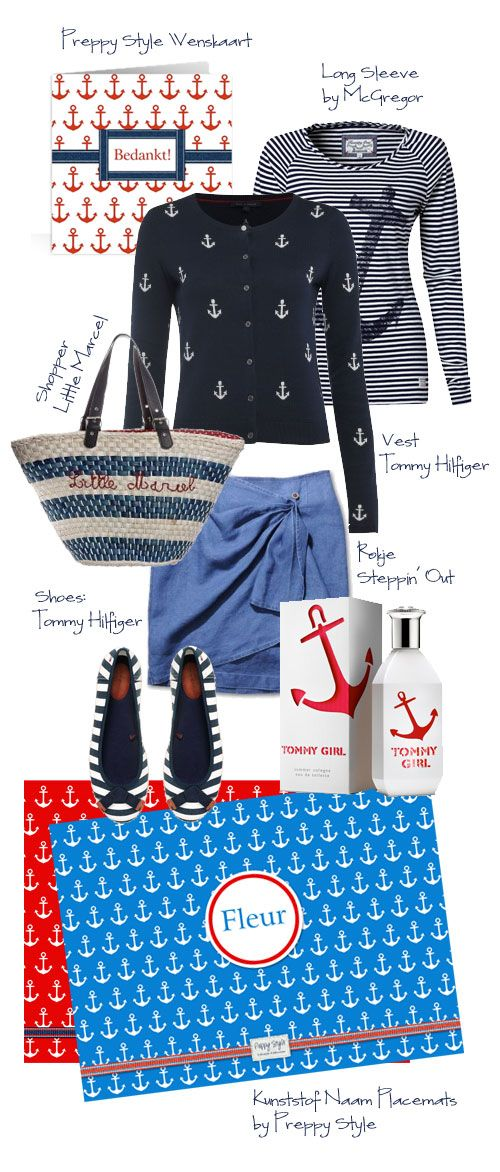 Preppy Style Marine Look, albeit the website is in another language...love the outfit!!