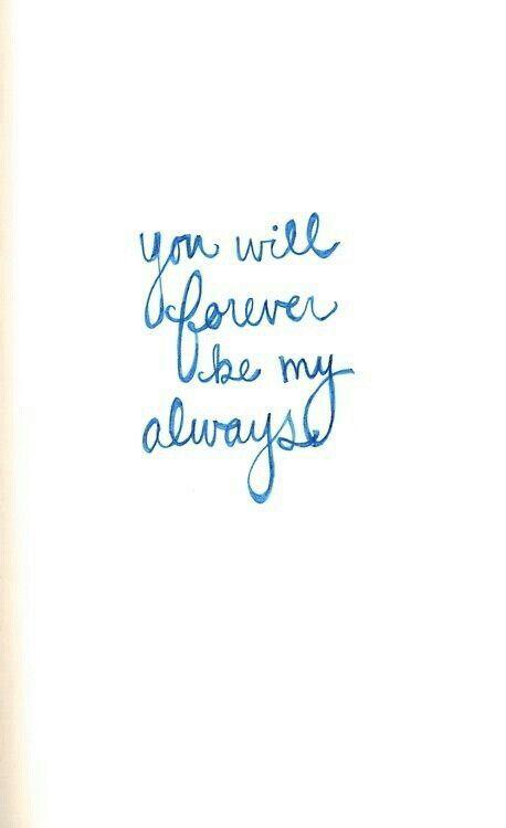 To my baby. <3