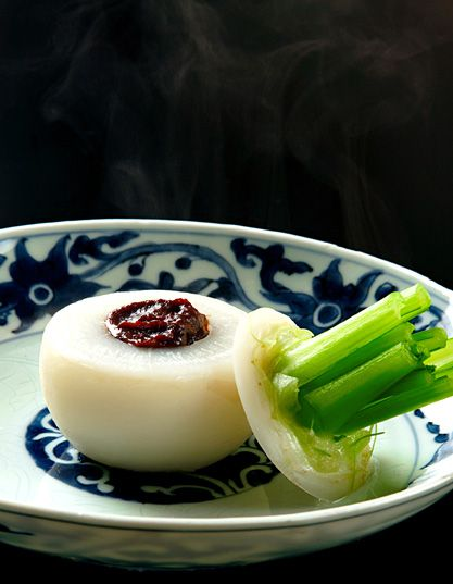 "Simmered Summer Turnip with Rich Miso Sauce - Japanese ""Furofuki"" Style Method V"