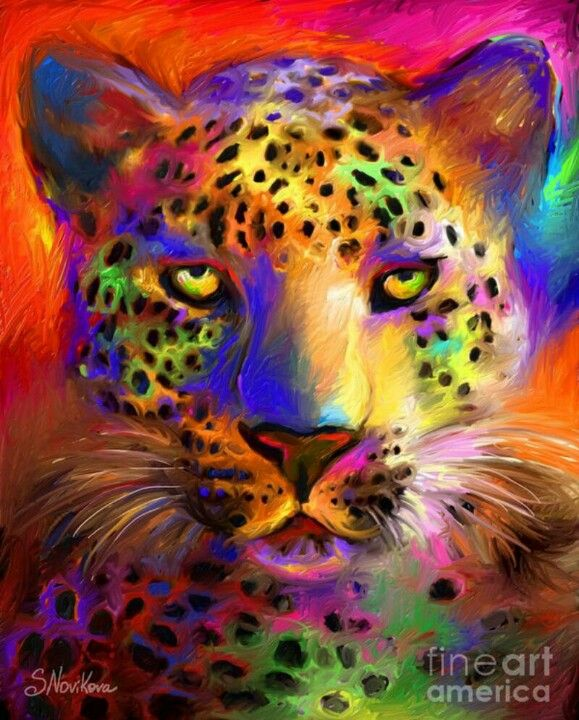 TigerBig Cat, Painting Art, Rainbows Colors, Bigcats, Art Prints, Wildlife Art, Leopards, Art Painting, Beautiful Creatures