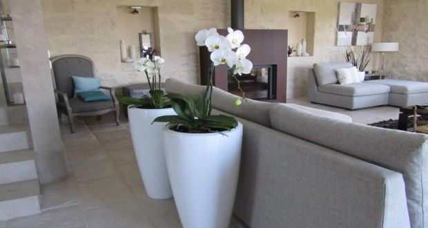 couleur-lin-peinture-salon-deco-zen - Decoration maison, Idees deco interieur, astuces et peinture