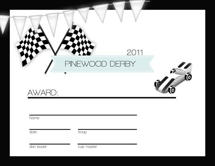 171 best Pinewood derby images on Pinterest Pinewood derby cars - printable certificate of participation