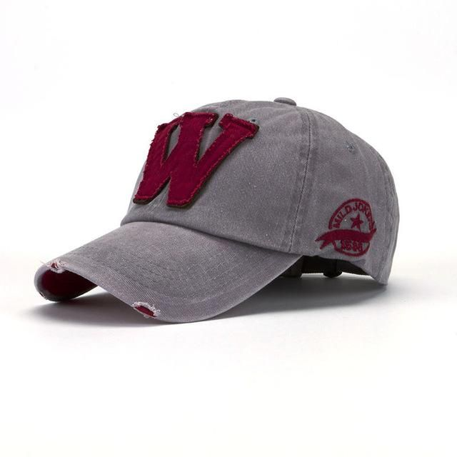 520fd4ff92a956 KLV 2017 new trendy custom design Snapback Hats Unisex Summer Letter W  Hockey Baseball Caps simple