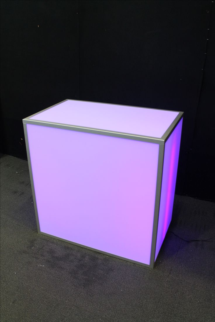 Illuminated demonstration table. Perfect for exhibitions and trade shows.