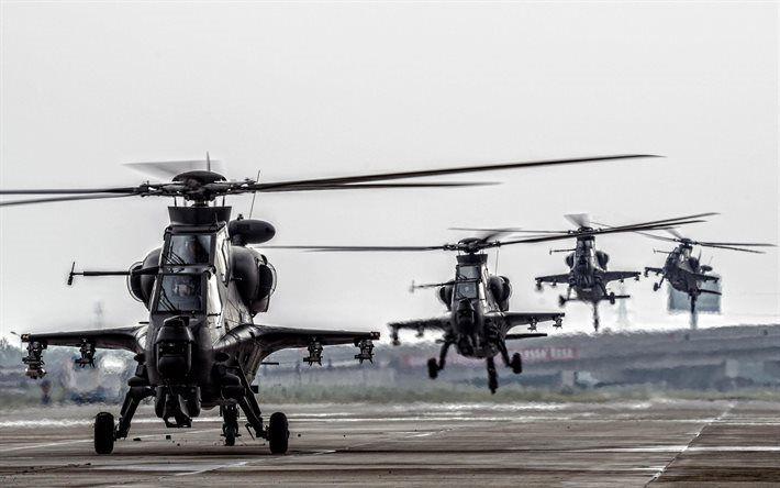 Herunterladen hintergrundbild angriff hubschrauber, caic wz-10, der armee, kampfhubschrauber, china air force